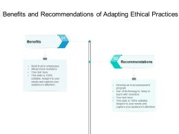 Benefits And Recommendations Of Adapting Ethical Practices