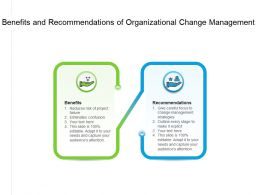 Benefits And Recommendations Of Organizational Change Management