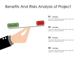Benefits And Risks Analysis Of Project