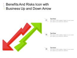 Benefits And Risks Icon With Business Up And Down Arrow