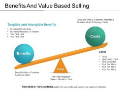 Benefits And Value Based Selling Ppt Example File