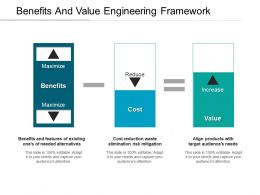 Benefits And Value Engineering Framework Ppt Examples