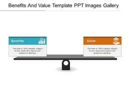 Benefits And Value Template Ppt Images Gallery