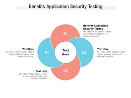Benefits Application Security Testing Ppt Powerpoint Presentation Styles Designs Cpb