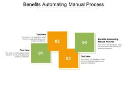 Benefits Automating Manual Process Ppt Powerpoint Presentation Styles Deck Cpb