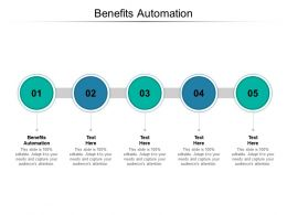 Benefits Automation Ppt Powerpoint Presentation Infographics Show Cpb