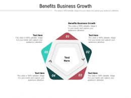 Benefits Business Growth Ppt Powerpoint Presentation Visual Aids Summary Cpb
