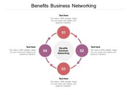 Benefits Business Networking Ppt Powerpoint Presentation Summary Master Slide Cpb