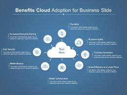 Benefits Cloud Adoption For Business Slide