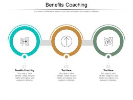 Benefits Coaching Ppt Powerpoint Presentation Infographic Template Show Cpb