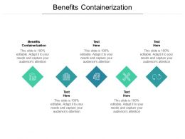 Benefits Containerization Ppt Powerpoint Presentation Model Layout Cpb