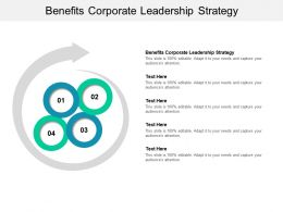 Benefits Corporate Leadership Strategy Ppt Powerpoint Presentation Layouts Deck Cpb