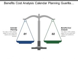 benefits_cost_analysis_calendar_planning_guerilla_marketing_competition_intelligence_Slide01