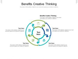 Benefits Creative Thinking Ppt Powerpoint Presentation Slides Topics Cpb