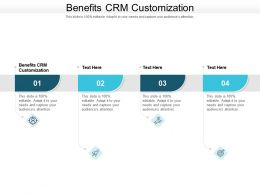 Benefits CRM Customization Ppt Powerpoint Presentation Styles Guide Cpb