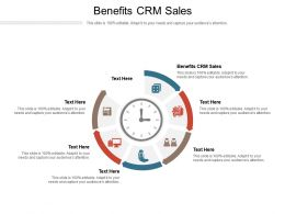 Benefits CRM Sales Ppt Powerpoint Presentation Portfolio Icons Cpb
