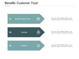 Benefits Customer Trust Ppt Powerpoint Presentation Professional Graphics Download Cpb