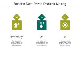 Benefits Data Driven Decision Making Ppt Powerpoint Presentation Infographics Diagrams Cpb