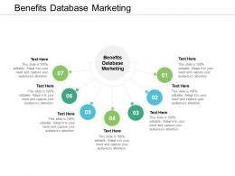Benefits Database Marketing Ppt Powerpoint Presentation Gallery Pictures Cpb