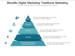 Benefits Digital Marketing Traditional Marketing Ppt Powerpoint Presentation Slides Cpb