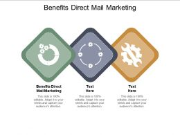 Benefits Direct Mail Marketing Ppt Powerpoint Presentation Show Graphics Cpb