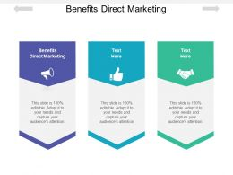 Benefits Direct Marketing Ppt Powerpoint Presentation Infographics Cpb
