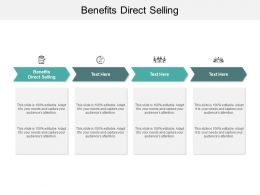 Benefits Direct Selling Ppt Powerpoint Presentation Samples Cpb