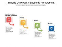 Benefits Drawbacks Electronic Procurement Ppt Powerpoint Presentation Ideas Graphic Images Cpb