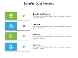 Benefits Dual Monitors Ppt Powerpoint Presentation Infographics Gallery Cpb