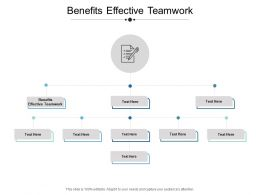 Benefits Effective Teamwork Ppt Powerpoint Presentation Outline Show Cpb