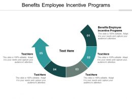 Benefits Employee Incentive Programs Ppt Powerpoint Presentation Professional Cpb
