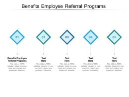 Benefits Employee Referral Programs Ppt Powerpoint Presentation Clipart Cpb