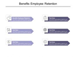 Benefits Employee Retention Ppt Powerpoint Presentation Styles Summary Cpb