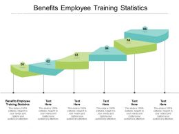 Benefits Employee Training Statistics Ppt Powerpoint Presentation Infographics Brochure Cpb