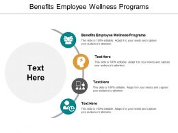 Benefits Employee Wellness Programs Ppt Powerpoint Presentation Styles Vector Cpb