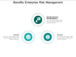 Benefits Enterprise Risk Management Ppt Powerpoint Presentation Infographics Master Slide Cpb