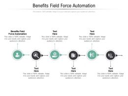 Benefits Field Force Automation Ppt Powerpoint Presentation Layouts Display Cpb