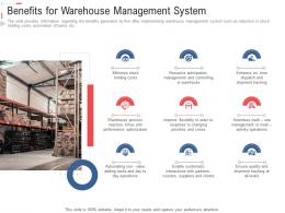 Benefits For Warehouse Management System Stock Inventory Management Ppt Elements