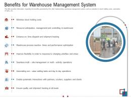 Benefits For Warehouse Management System Warehousing Logistics Ppt Guidelines
