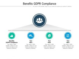 Benefits GDPR Compliance Ppt Powerpoint Presentation Slides Layouts Cpb