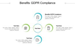 Benefits GDPR Compliance Ppt Powerpoint Presentation Styles Layouts Cpb