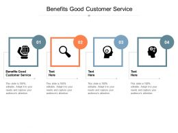 Benefits Good Customer Service Ppt Powerpoint Presentation Inspiration Format Cpb