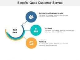 Benefits Good Customer Service Ppt Powerpoint Presentation Professional Display Cpb