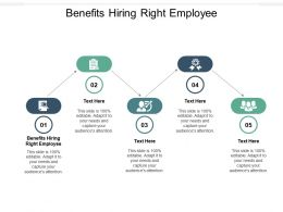 Benefits Hiring Right Employee Ppt Powerpoint Presentation Pictures Styles Cpb