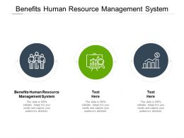 Benefits Human Resource Management System Ppt Powerpoint Slides Cpb