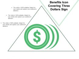Benefits Icon Covering Three Dollars Sign