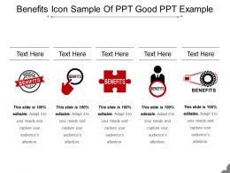 Benefits Icon Sample Of Ppt Good Ppt Example