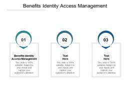 Benefits Identity Access Management Ppt Powerpoint Presentation Professional Structure Cpb