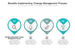 Benefits Implementing Change Management Process Ppt Powerpoint Slides Cpb