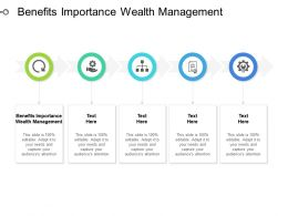 Benefits Importance Wealth Management Ppt Powerpoint Presentation Ideas Diagrams Cpb